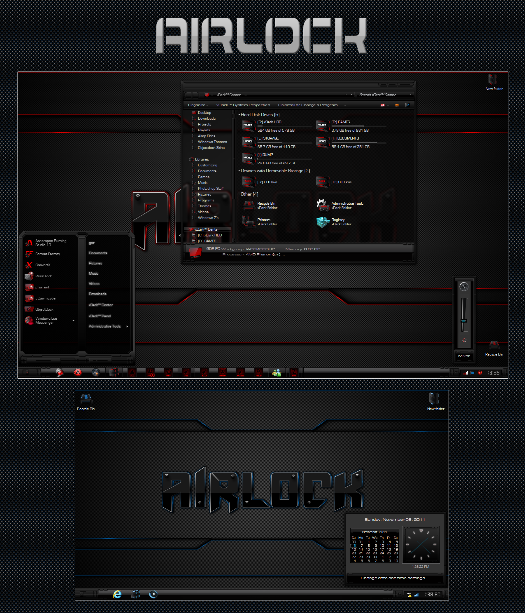 Airlock Blue and Red for Windows 10 Build 1903-21h2