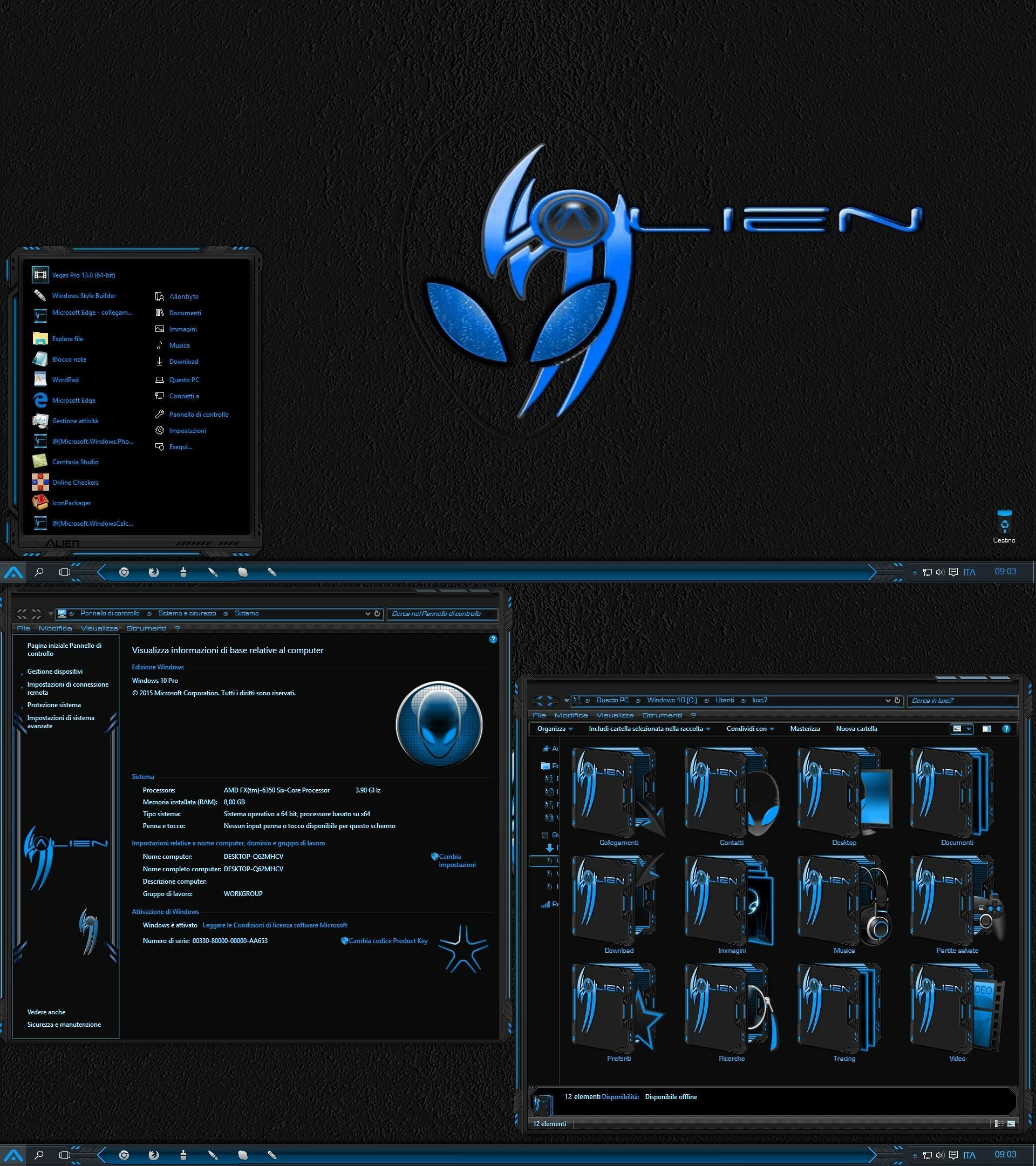 Alien Return Azure for Windows 10 Build 1903-21h2
