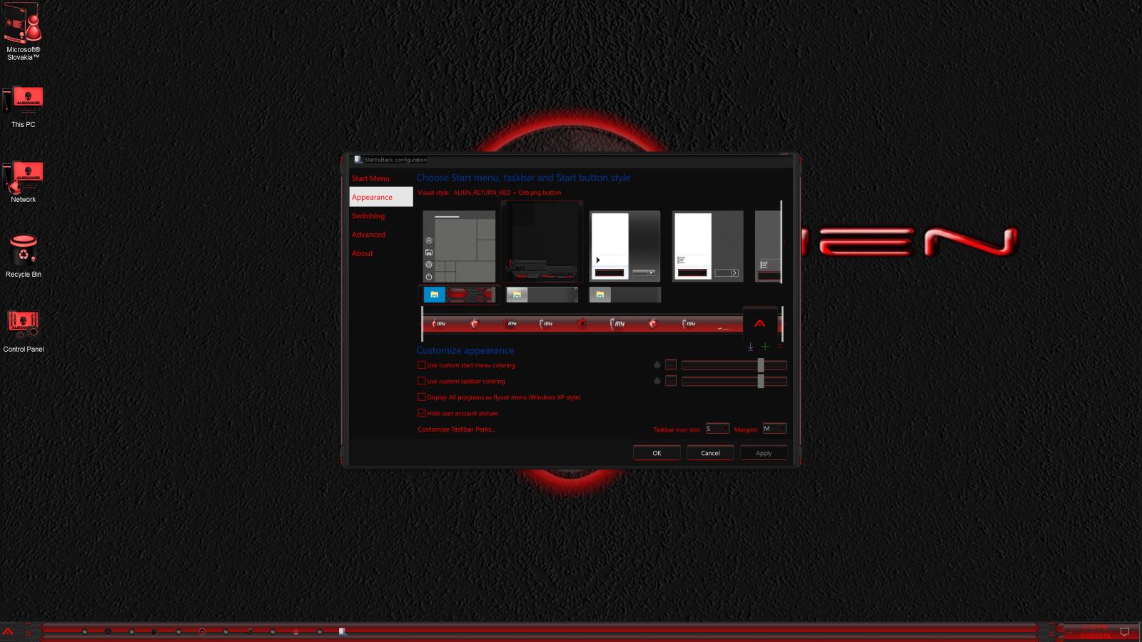 Alien Return Red for Windows 10 Build 1903-21h2