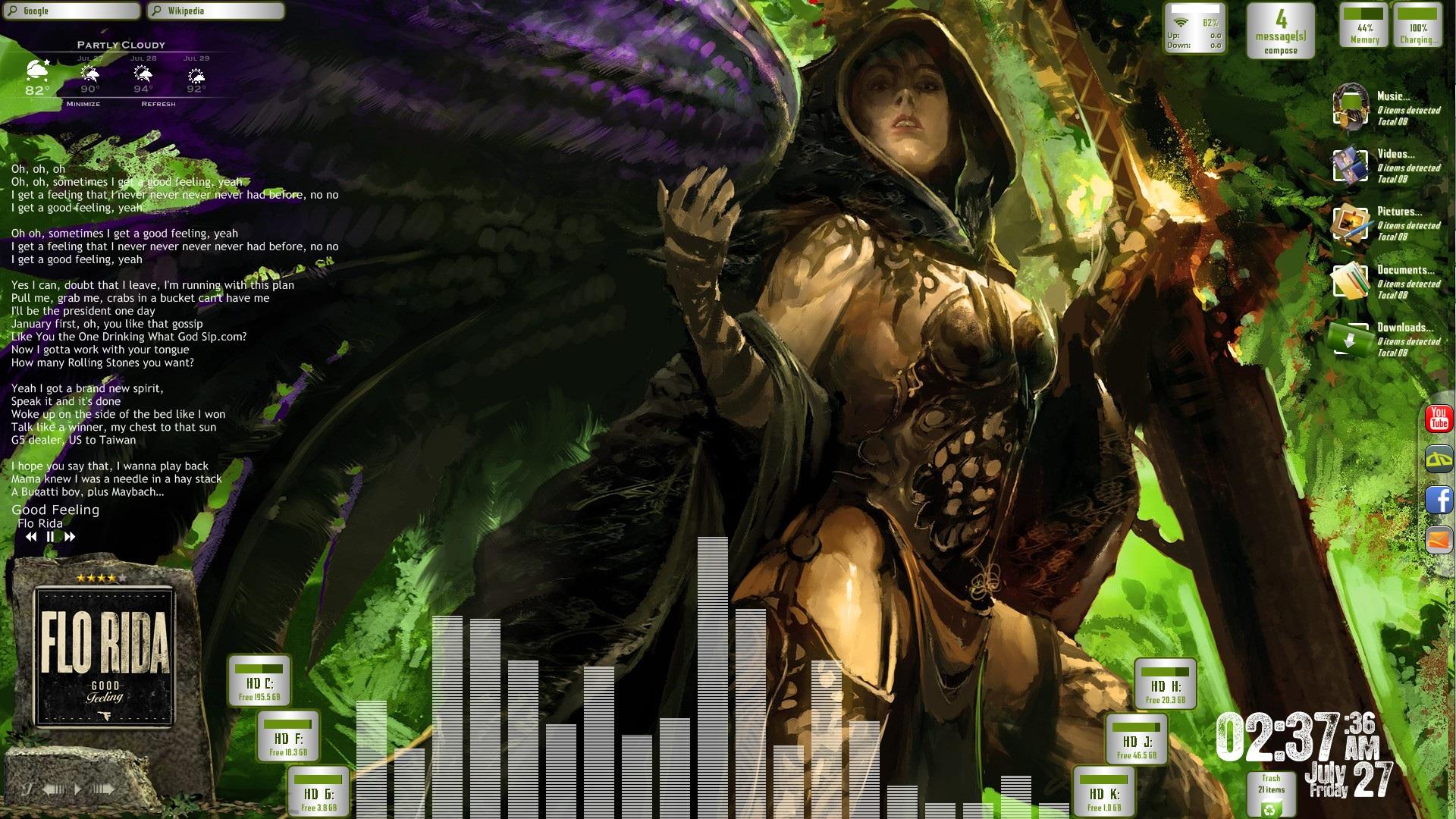 Avenging Angel Desktop for Rainmeter