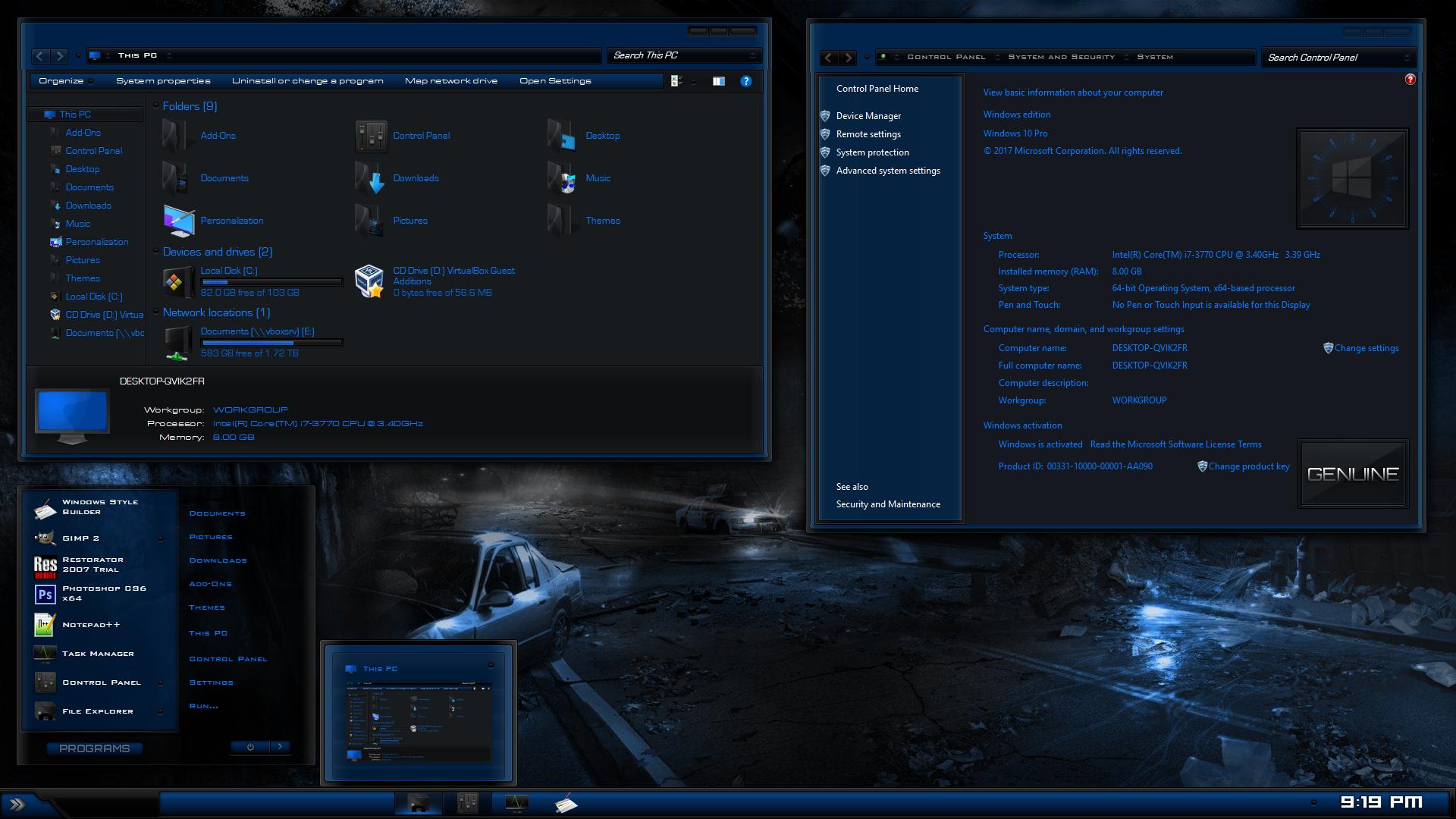 Blue Thunder For Windows 10 Build 1903-21h2
