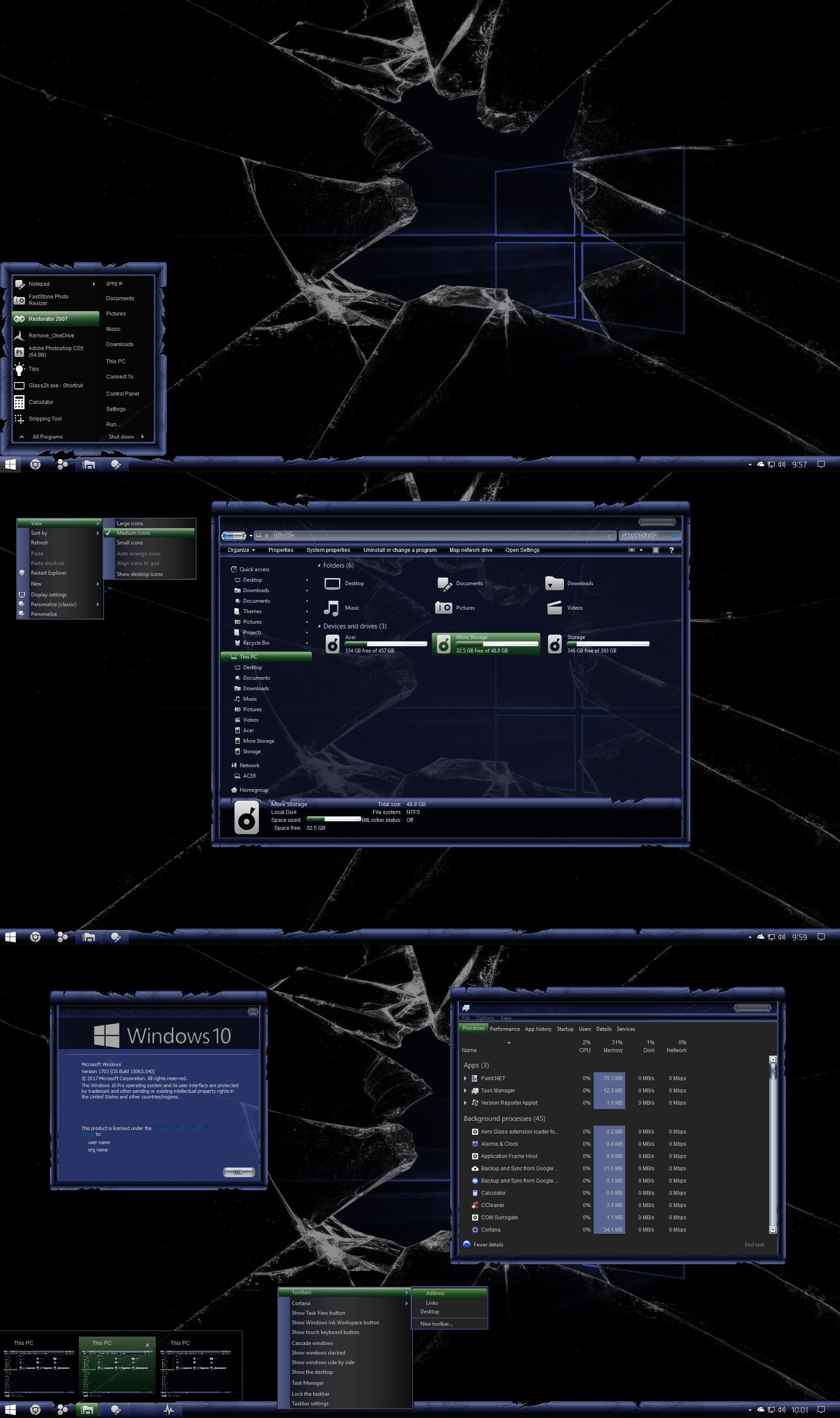 Broken theme For Windows 10 Build 1903-21h2