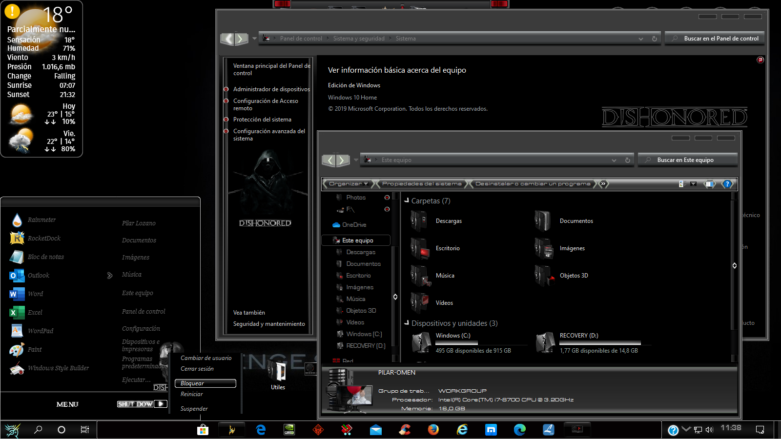 DISHONORED for Windows 10 Build 1903-21h2