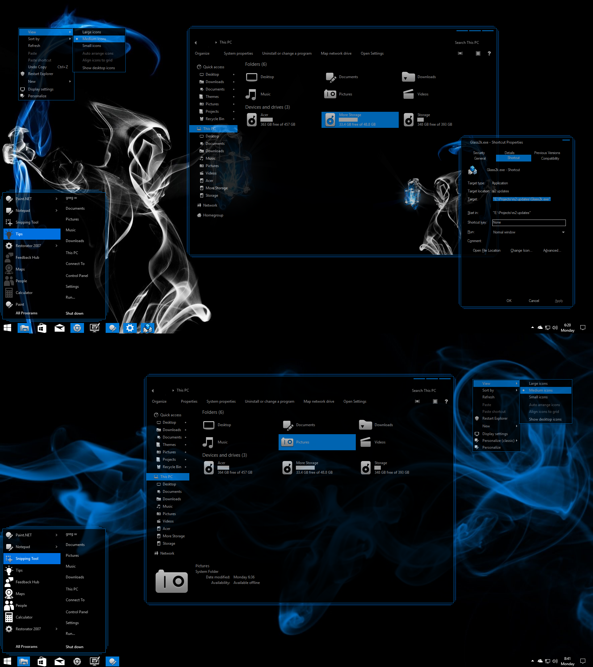 Ghostly Blue for Windows 10 Build 1903-21h2