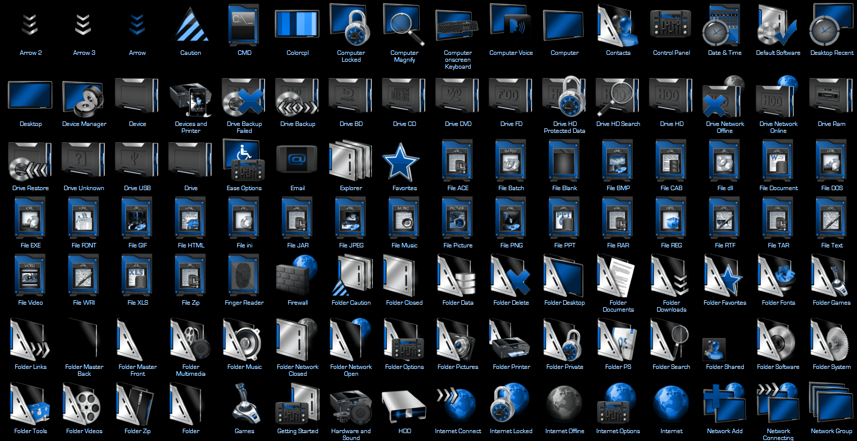 Jarvis 7tsp Icon Pack for Windows 10 Build 1903-21H2